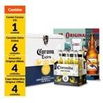 Kit Cooler Corona + 6 Original 600ml + 6 Copos Original