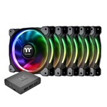Kit 3 Cooler Fan Thermaltake CL-F053-PL12SW-A Riing 120mm Led Rgb