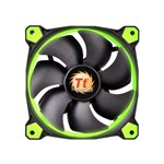 Kit 3 Coolers Fan Thermaltake CL-F055-PL12GR-A Tt Riing 120mm Led Verde