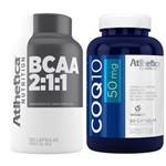 Kit Coq10 50mg (90 Cáps) + Bcaa 2:1:1 (60 Cáps) - Atlhetica
