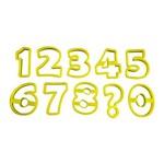 Kit Cortador de Plástico Números Blue Star com 8 Peças - Ref. 91831