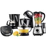 Kit Cozinha Completa Mondial KT-76 C/ Liquidificador/ Batedeira/ Cafeteira/ Sanduicheira/ Espremedor