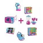 Kit Cozinha Infantil 4 Brinquedos e Vários Acessórios
