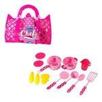 Kit Cozinha Infantil Clube do Chef com Panela e Acessorios 14 Pecas na Bolsa
