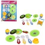 Kit Cozinha Infantil com Frigideira e Acessorios Minha Cozinha dos Sonhos 11 Pecas Wellkids