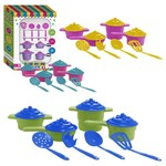 Kit Cozinha Infantil Panelinhas Magicas com Talheres na Caixa