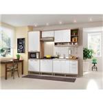 Kit Cozinha Sicilia 5808 Branco e Argila Multimóveis