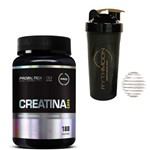 Kit Creatina Caps 180 Capsulas + Coqueteleira 600ml com Mola