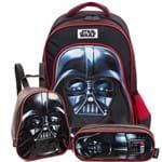 Kit Darth Vader 19P - Mochila, Lancheira e Estojo PRETO/U