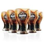 Kit de 6 Copos Oficial Cerveja Brahma Black 430 Ml