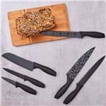Kit de 6 Facas para Cozinha Solecasa Preto