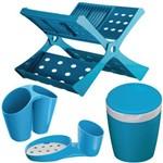 Kit de Acessórios para Cozinha Astra 04 Peças Azul Blue Berry