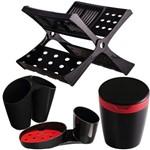 Kit de Acessórios para Cozinha Astra 04 Peças Preto