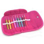 Kit de Agulhas para Crochê Soft Pink Círculo