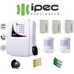 Kit de Alarme Genius Al 4 Residencial Ipec com 3 Sensores Magnéticos 2 Sensor Infravermelho Sem Fio