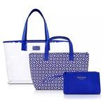 Kit de Bolsas 3 Peças Praia Passeio Étnica Jack Design Azul