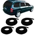 Kit de Borrachas das Portas Corsa Wagon 1997 a 2002 - 4 Peças