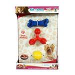 Kit de Brinquedos Furacão Pet para Raças Pequenas