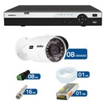 Kit de Câmeras de Segurança - Dvr Intelbras 8 Ch Tribrido Hdcvi Full Hd + 8 Câmeras Infra Vhd 3230 -