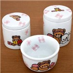 Kit de Higiene em Louça (3 Pçs) - Ursa Xadrez