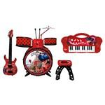 Kit de Instrumentos Musicais - Miraculous - Bandinha da Ladybug - Fun