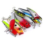 Kit de Iscas Top Fishing com 10 Iscas