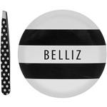 Kit de Maquiagem Black & White Belliz Espelho e Pinça