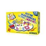 Kit de Massinha Acrilex Letras e Números 450g 40046