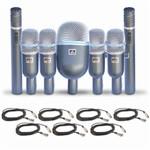 Kit de Mic para Bateria Arcano 7osmed-kit + 7 Cabos Xlr Mono
