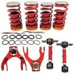 Kit de Molas Reguláveis (coilover) + Bandejas Diant. Sup. C/ Pivôs e Regulagem de Cambagem + Bieletas Tras. de Regulagem de Cambagem Honda Civic EG Confira Especificações
