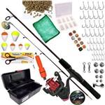 Kit de Pesca Completo Vara Molinete para 10 Kilos e Itens Pronto para Usar