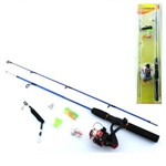 Kit de Pesca Vara 1,2mts Completo de Pesca Molinete 3 Rolamentos 0709