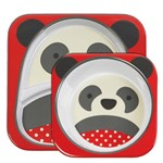 Kit de Pratos Skip Hop Zoo Panda