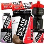 Kit de Suplementos Massa Muscular Whey Protein Isolado Bcaa Creatina Pré Treino