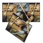 Kit de Tapete para Cozinha 3 Peças - Corttex