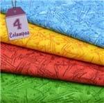 Kit de Tecido Fantasia Airton Spengler: Textura (30x70) 4 Estampas