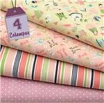 Kit de Tecido Little Girl (30x70) 4 Estampas