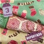 Kit de Tecido Natal Homespun Holidays (30x55) 3 Estampas