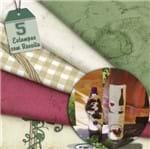 Kit de Tecido Porta Vinho e Guardanapo (30x70) 5 Estampas