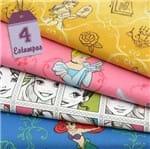 Kit de Tecido Princesas Disney (30x70) 4 Estampas