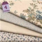 Kit de Tecido Rose Garden Linho Azul (30x70) 4 Estampas