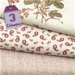 Kit de Tecido Rose Garden Rosa (30x70) 3 Estampas