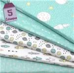 Kit de Tecido Saturno Tiffany (30x70) 5 Estampas