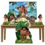 Kit Decoração de Festa Totem Display - 7pçs+painel - Moana