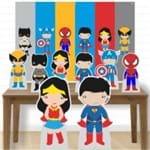 Kit Decoração de Festa Totem Display -8pçs+painel - Heróis