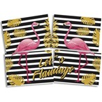 Kit Decorativo Cartonado Let's Flamingo com 01 Un.