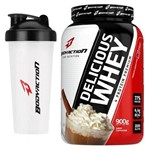Kit - Delicious Whey - 900g Cappuccino + Coqueteleira - BodyAction
