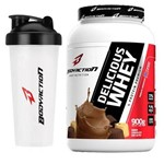 Kit - Delicious Whey - 900g Chocolate dos Alpes + Coqueteleira - BodyAction