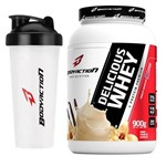 Kit - Delicious Whey - 900g Creme de Baunilha + Coqueteleira - BodyAction