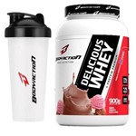 Kit - Delicious Whey - 900g Sorvete Napolitano + Coqueteleira - BodyAction